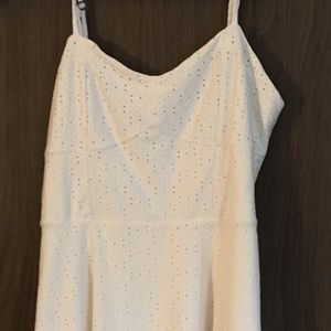 Cream eyelet design sun dress
